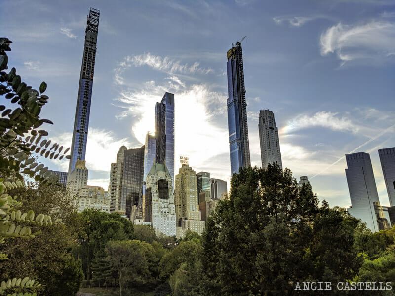 Los rascacielos de Nueva York - Billionaires Row desde Central Park