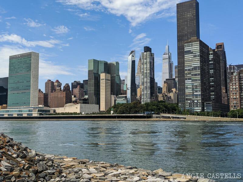 Qué ver en Roosevelt Island - Chrysler y One Vanderbilt desde el Four Freedoms Park