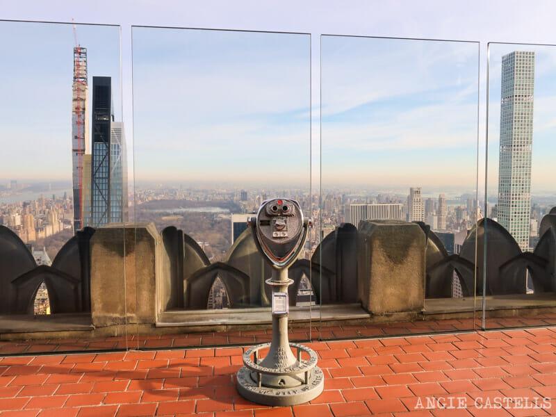Rascacielos de la Billionaires Row en Nueva York desde el Top of the Rock